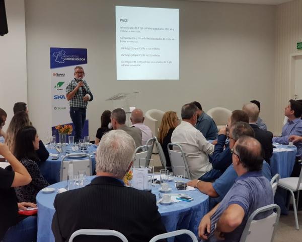 Vanazzi palestra sobre ações do governo para empresários na Acist