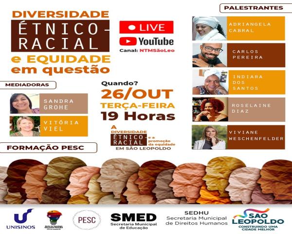 Diversidade Étnico-racial e Equidade em Questão é tema de live promovida pelo Pesc