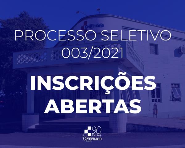 Fundação Hospital Centenário abre inscrições para Processo Seletivo