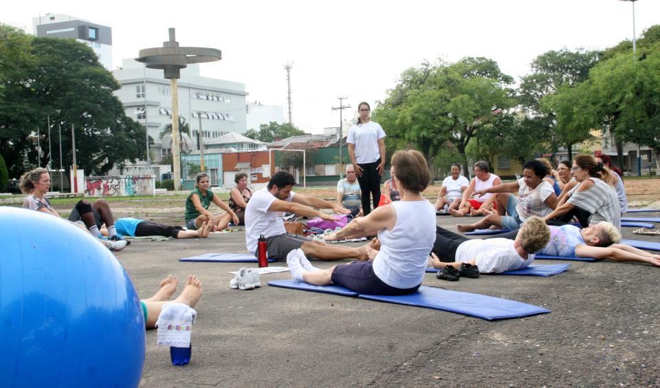 Pilates na Praça para toda a comunidade