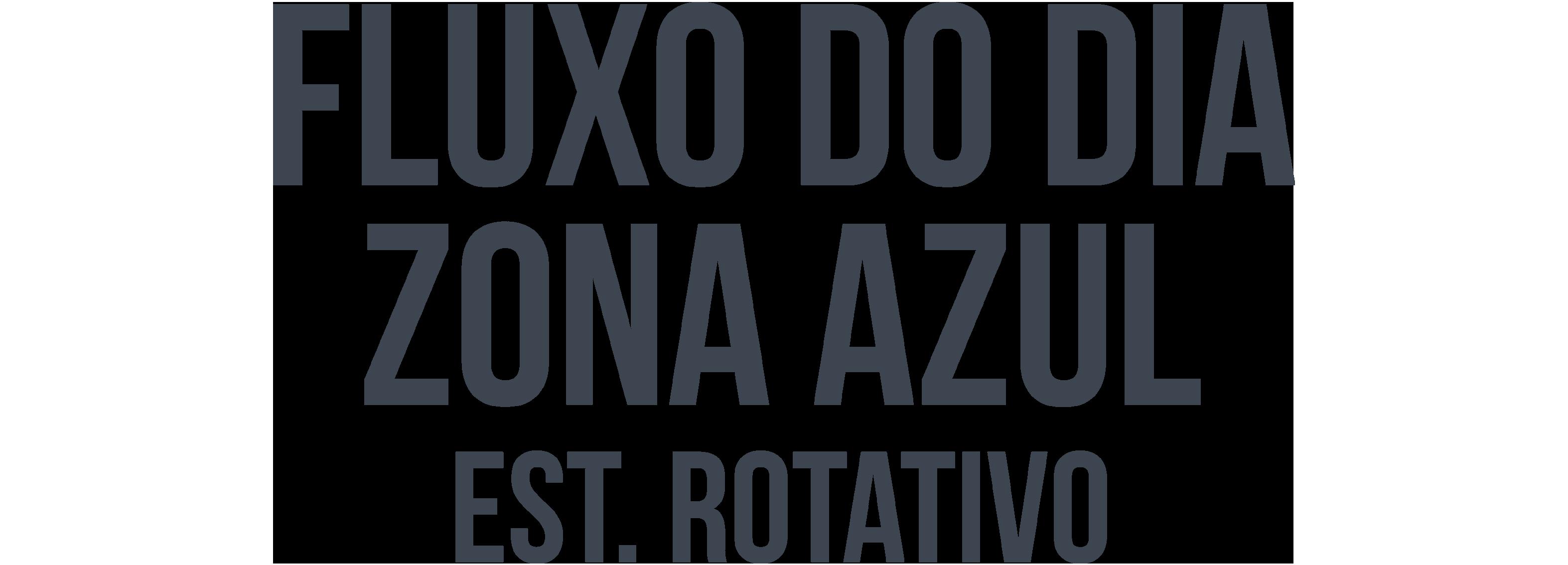 Fluxo diário Recurso Zona Azul texto